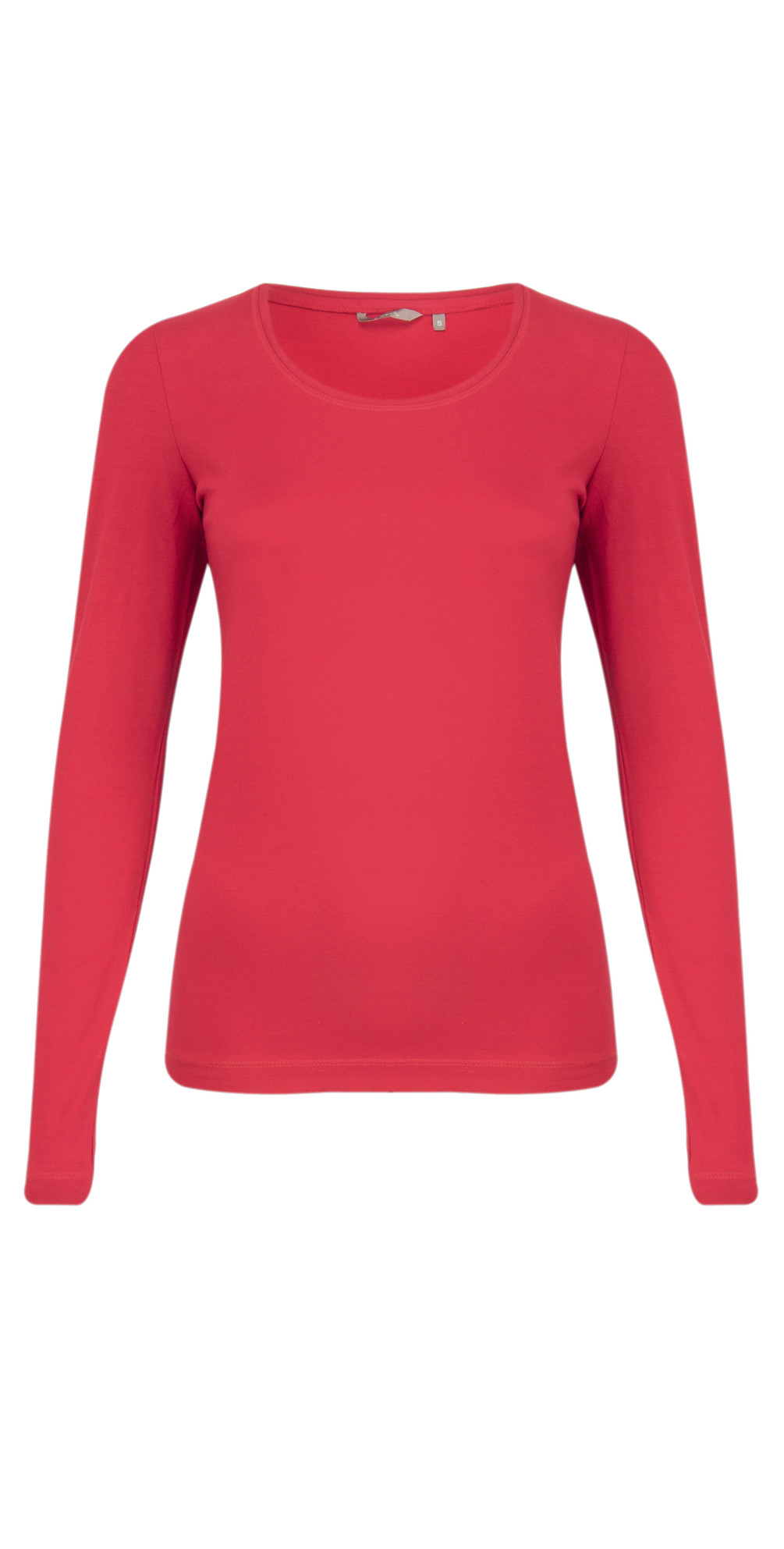 Sandwich clothing light cotton elastane t shirt in crimson for Cotton and elastane t shirts