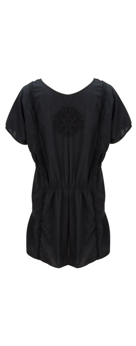 Sandwich Clothing Embroidered Lawn Tunic Nearly Black