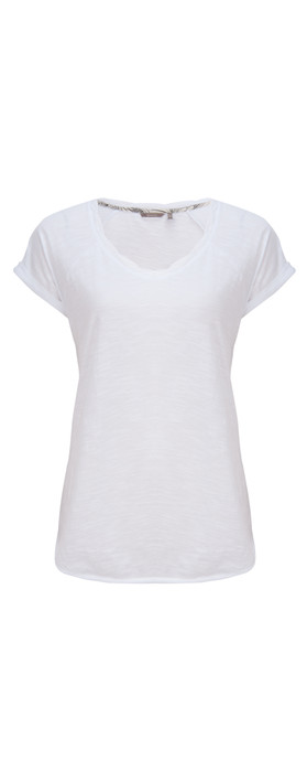 Sandwich Clothing Slub Cotton Jersey T-Shirt White