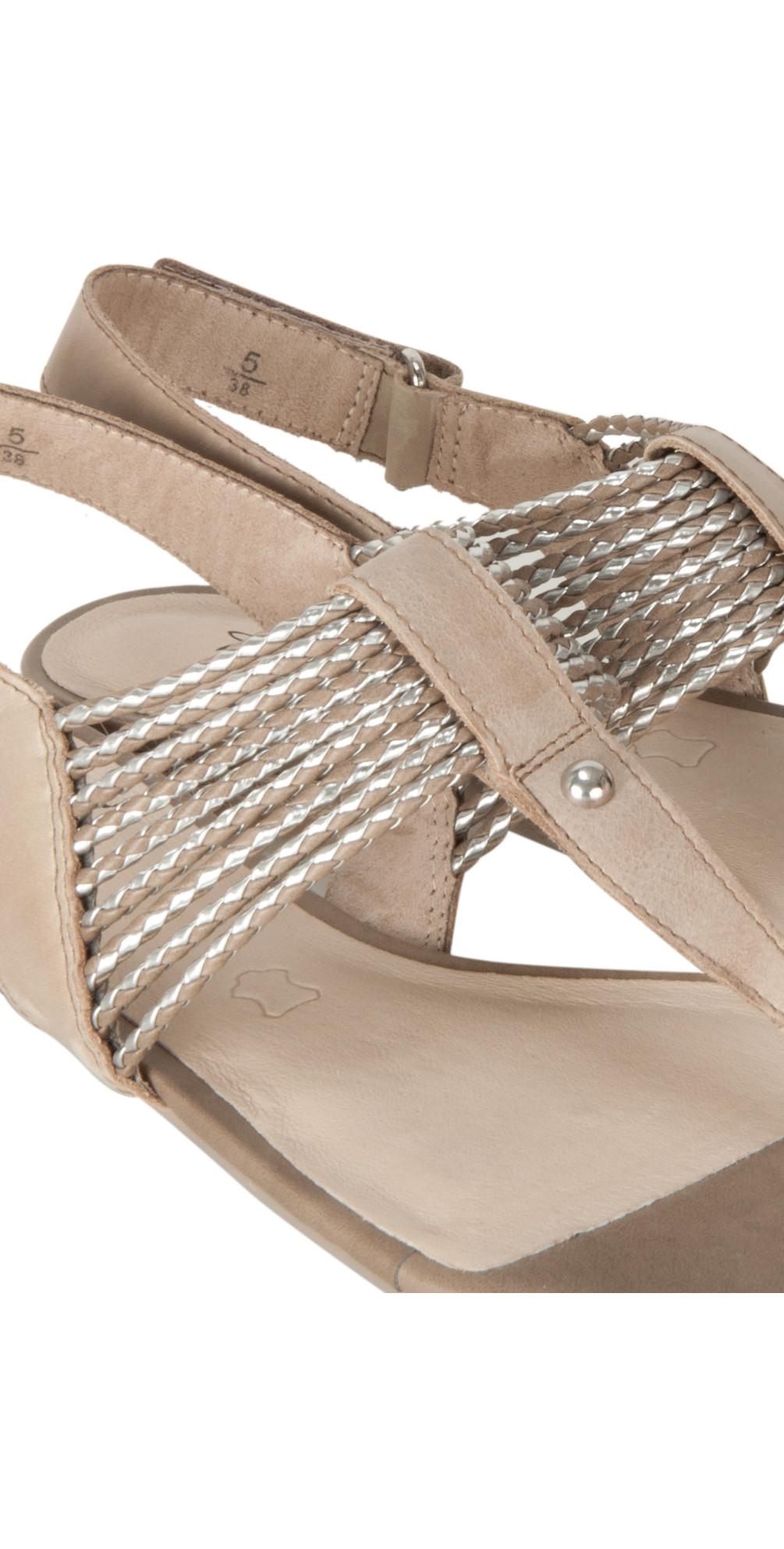 caprice footwear farbe plaited sandal in taupe. Black Bedroom Furniture Sets. Home Design Ideas