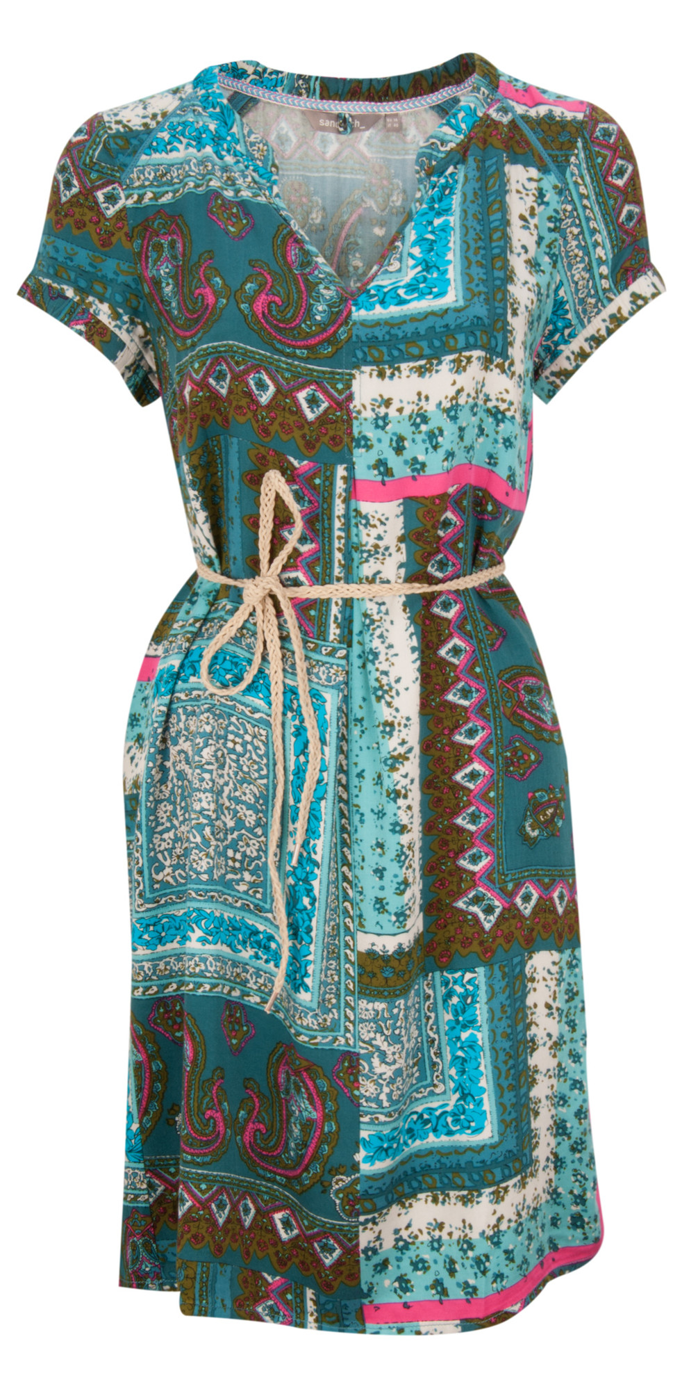 Indian Flower Print Dress main image