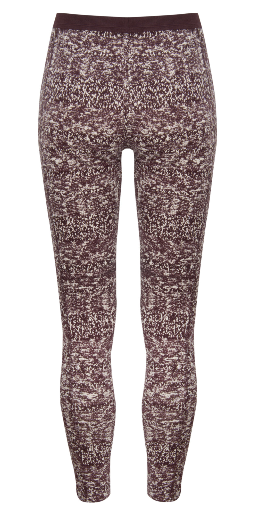 Knit Texture Print Leggings main image