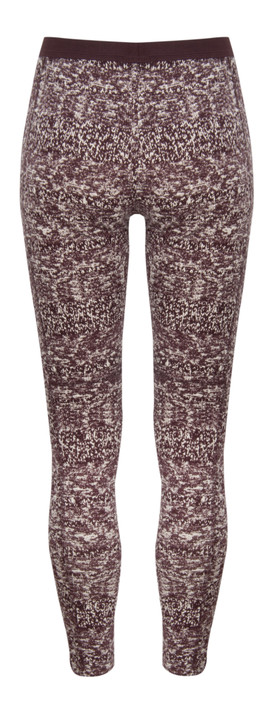 Sandwich Clothing Knit Texture Print Leggings Dark Berry