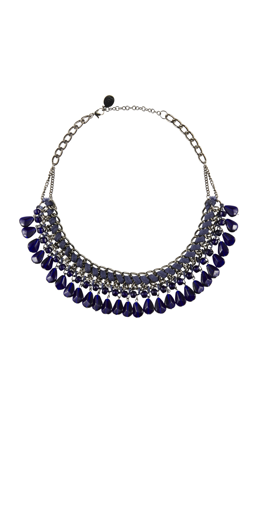 sandwich clothing braided bead necklace in nightfall