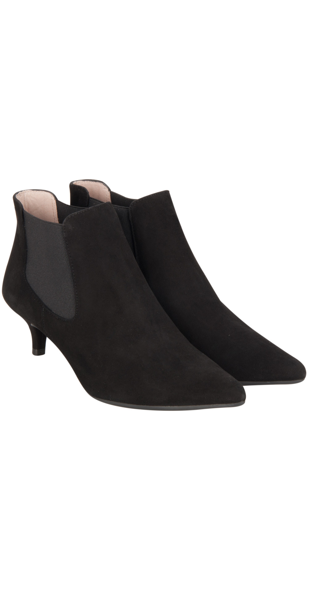 Unisa Shoes Jeoni Kitten Heel ankle Boot in Black