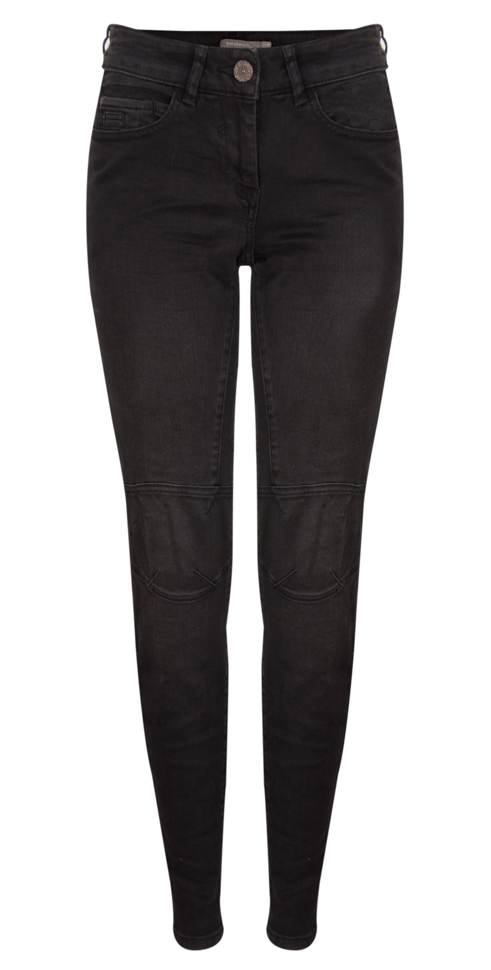 Overdyed Denim Skinny Pants main image