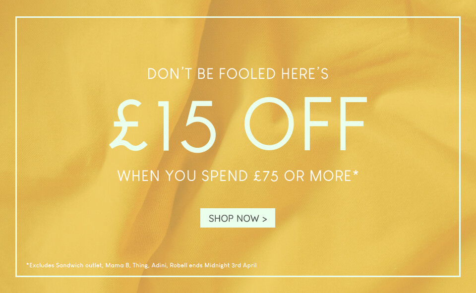 £15 Off When You Spend £75 01-04