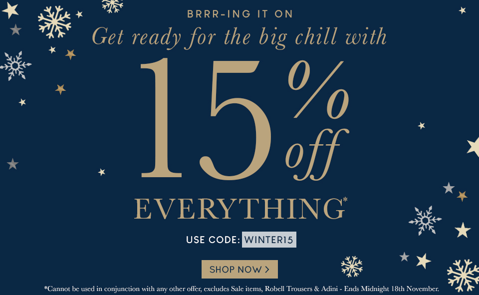 15% OFF EVERYTHING | 14-11