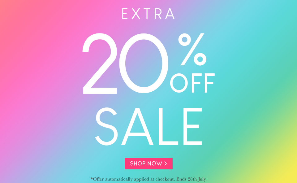Extra 20% OFF SALE 15-07