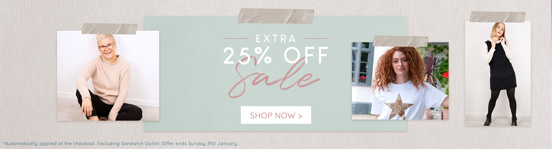 18-01 Extra 25% Off Sale