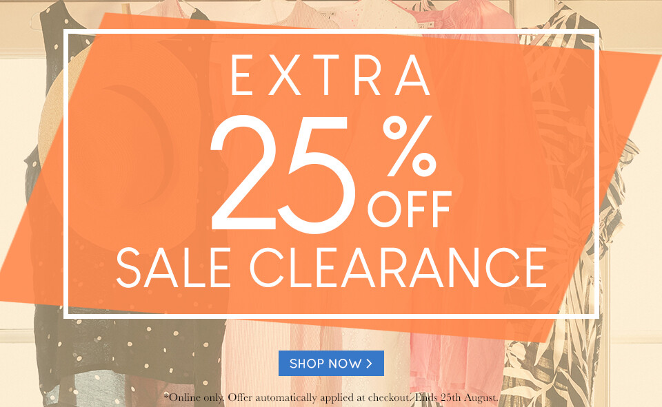 25% Off Sale Clearance 18-08