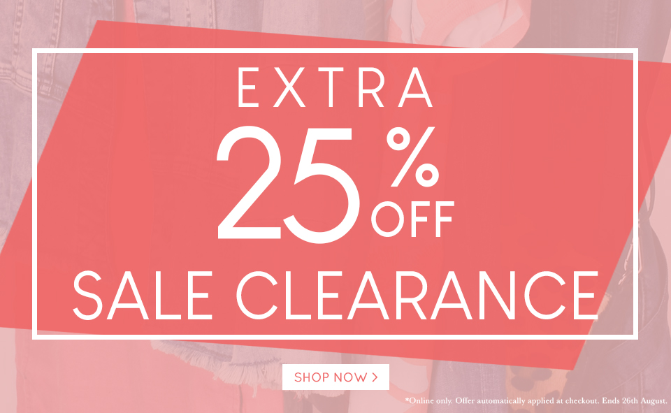 25% Off sale 19-08