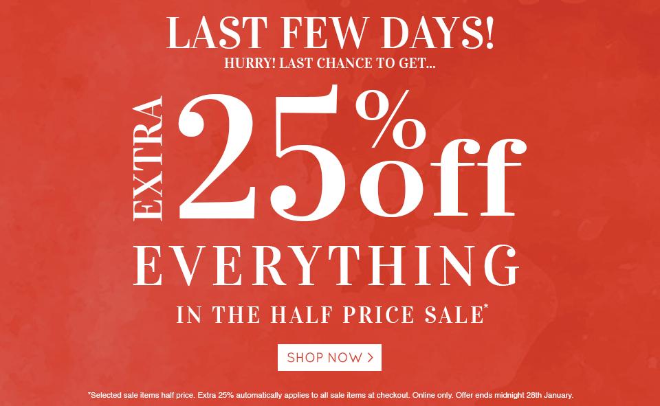 Sale Last Few Days 23-01