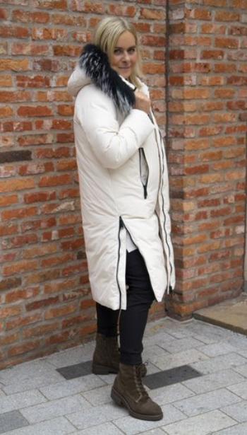 Frandsen Ingrid Fur Trim Hood Coat