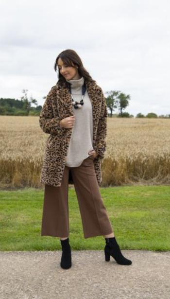 Rino & Pelle Joela Faux Fur Coat- Tannin Leopard