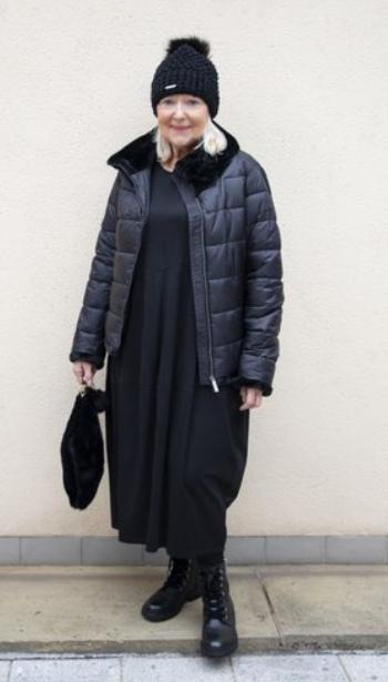 Frandsen Livvi Faux Fur Collar Short Coat