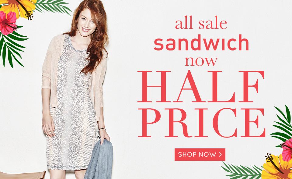 SCROLL 3 Sandwich Half Price Sale 16-07