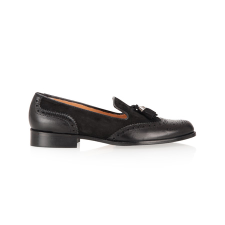 HB Shoes Leather Brogue - Black