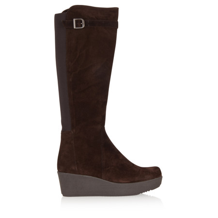 Unisa Shoes Long Fraga Wedge Boot - Brown