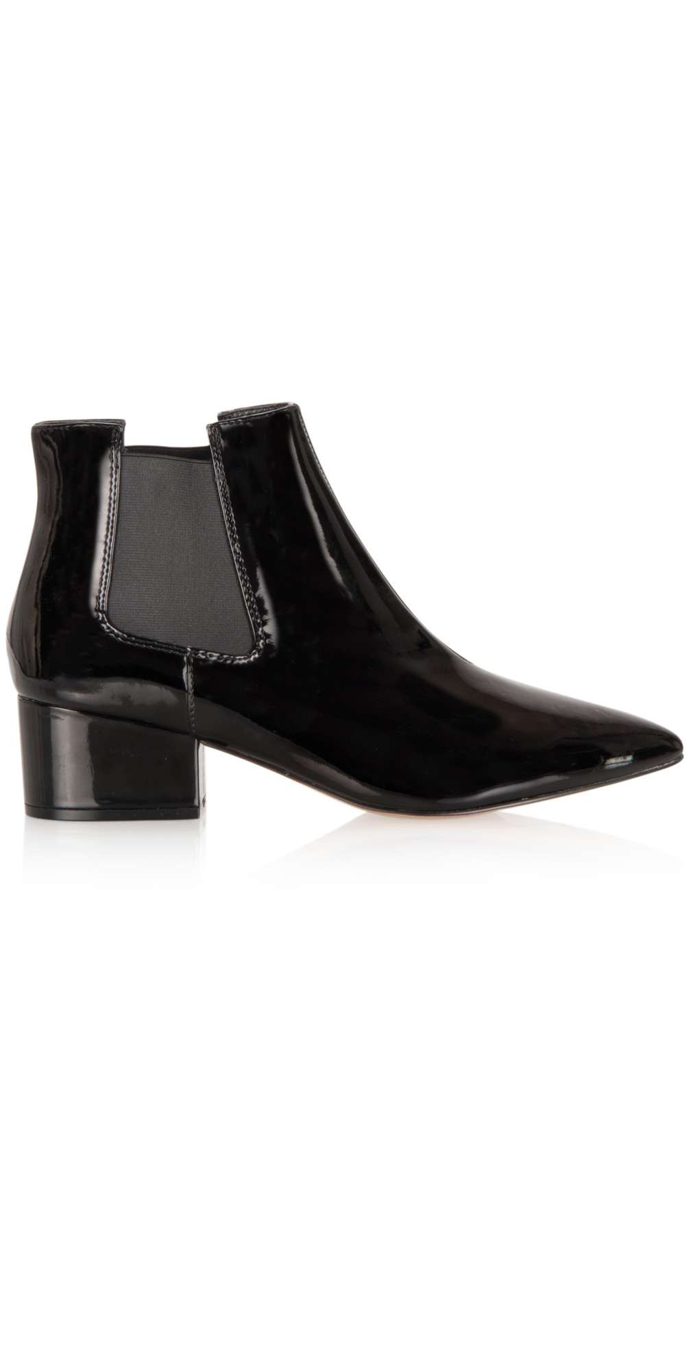 bc47115bfd4 French Connection Shoes Ronan Patent Ankle Boot in Black