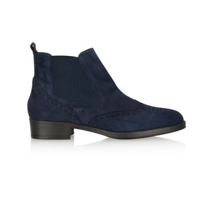 HB Shoes Libby Brogue Suede Chelsea Boot