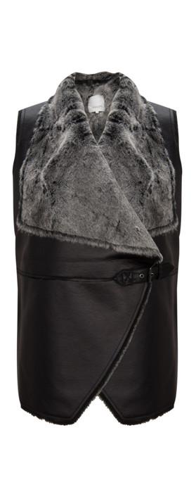 Great Plains Baa Baa Faux Fur Gilet Black