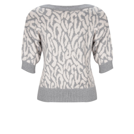 Great Plains Habibi Cropped Knits Top - Grey