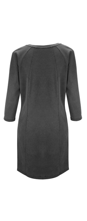 Sandwich Clothing French Terry Dress Nearly Black