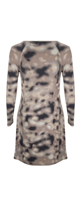 Sandwich Clothing Blurred Spots Jersey Dress Melted Snow