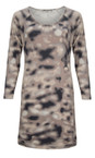 Sandwich Clothing Melted Snow Blurred Spots Jersey Dress
