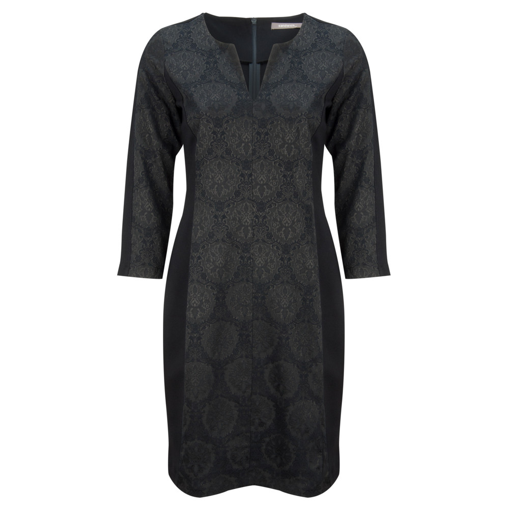 Sandwich Clothing Fancy Jacquard Dress Nearly Black