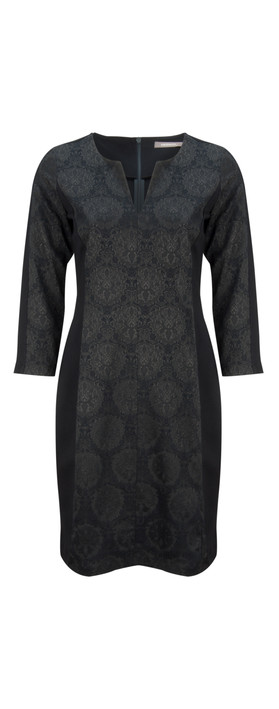 Sandwich Clothing Fancy Jacquard Dress Nearly Black