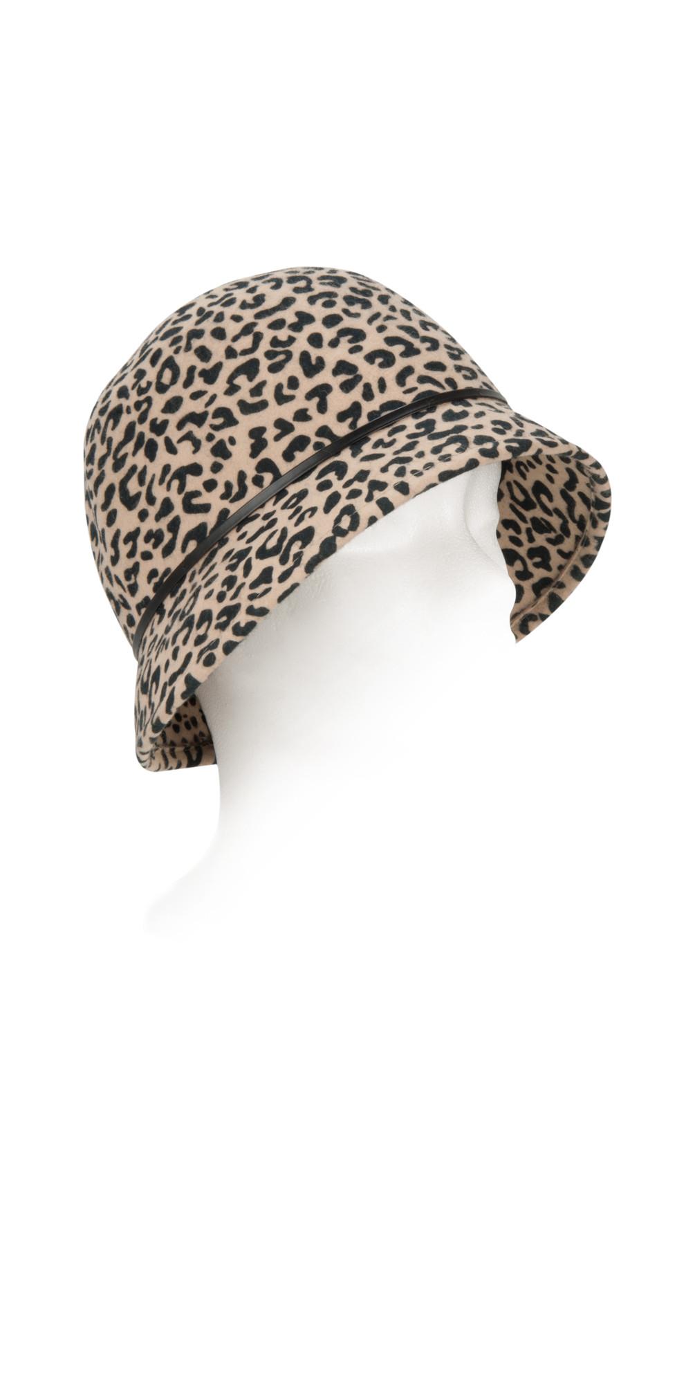 4d743589c7d Pia Rossini Sabrina Leopard Print Cloche Hat in Leopard