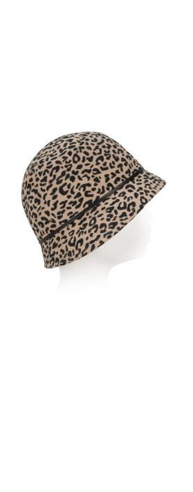 e4030b3911e Pia Rossini Sabrina Leopard Print Cloche Hat Leopard. undefined