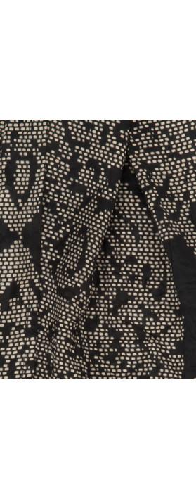 Masai Clothing Printed Along Scarf 111-CreamPrint