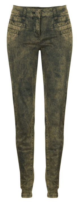Sandwich Clothing Acid Wash Skinny Pants Copper Gold