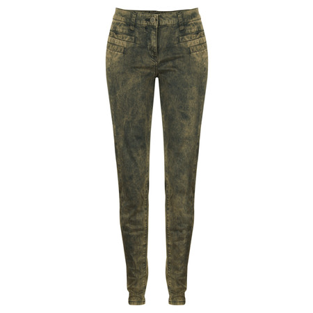Sandwich Clothing Acid Wash Skinny Pants - Gold