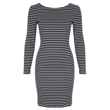 Petit Bateau Stripe Bow Dress - Blue