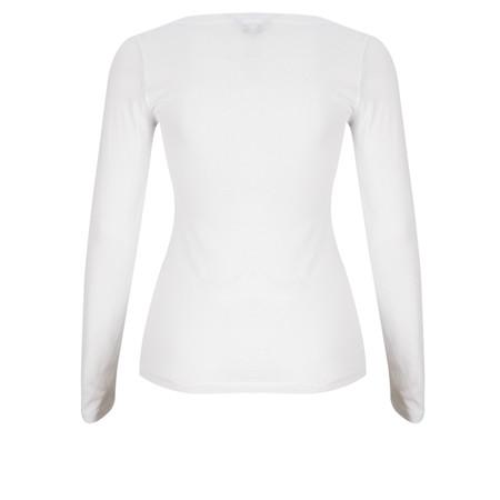 Great Plains Back To Basics Long Sleeve Tshirt - White