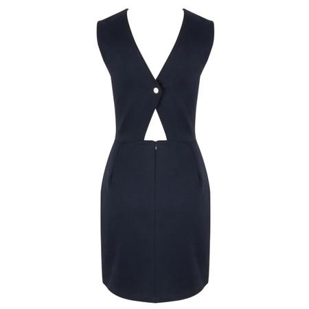 Petit Bateau Cut Out Plain Cotton Dress - Blue