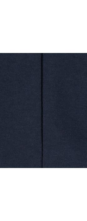 Petit Bateau Cut Out Plain Cotton Dress Navy