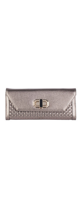 Smith & Canova Flap Over Clutch Purse Grey