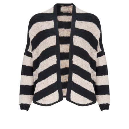Sandwich Clothing Cotton Chenille Striped Cardigan - Blue