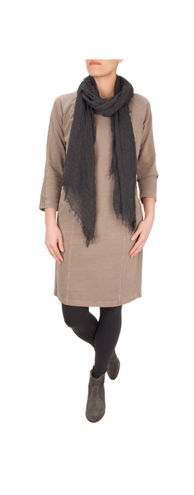 Sandwich Clothing French Terry Dress Frozen Earth