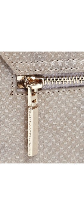 French Connection NEW - Ines Cross Body Bag Grey Snake