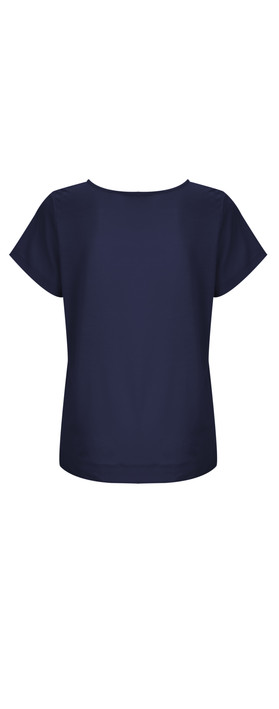 French Connection NEW - Polly Plains Pocket Top  Nocturnal