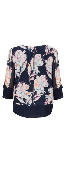 French Connection NEW - Shadow Bloom Tunic Top  Nocturnal