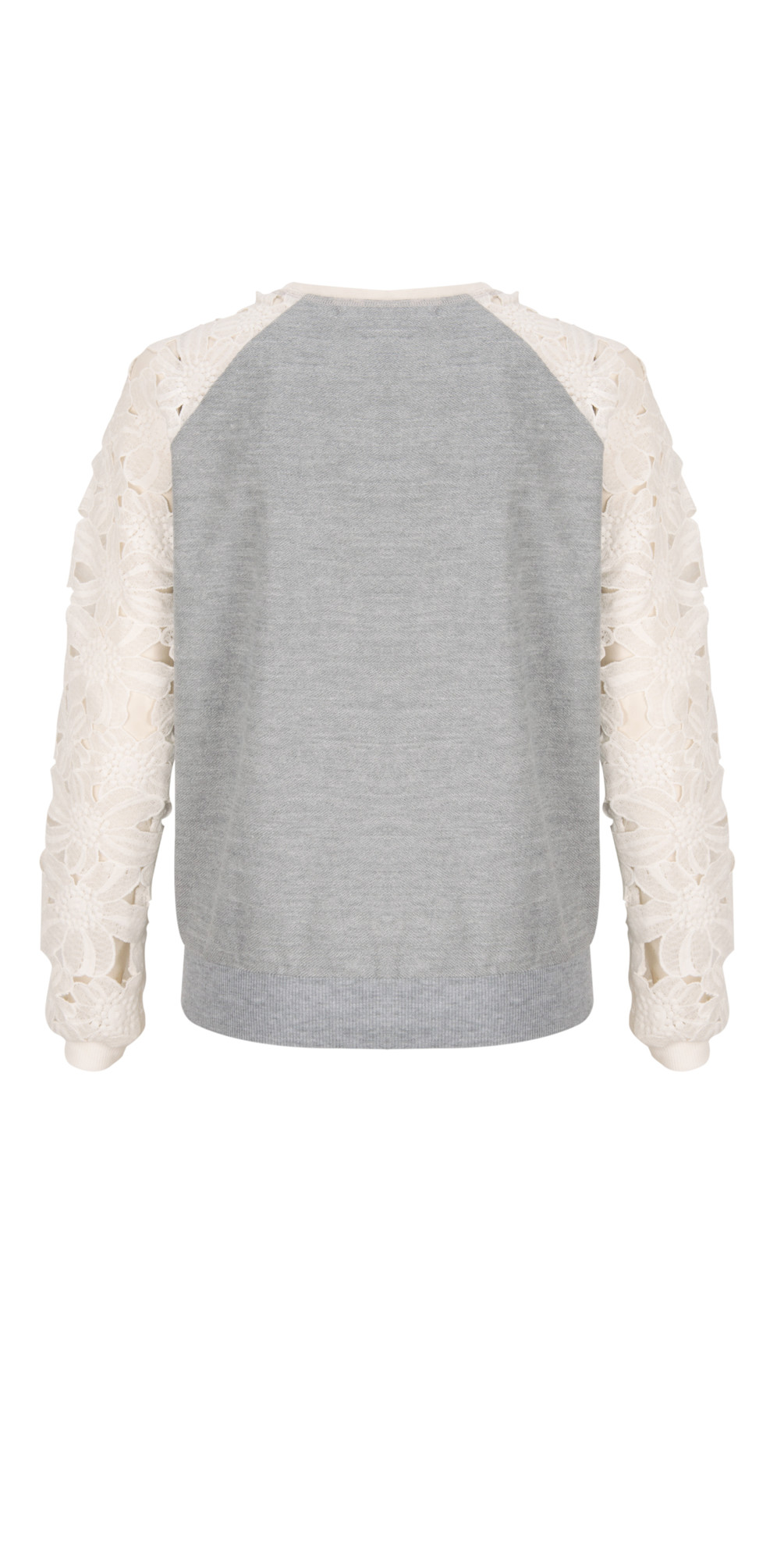 NEW - Lace Sleeved Sweatshirt main image