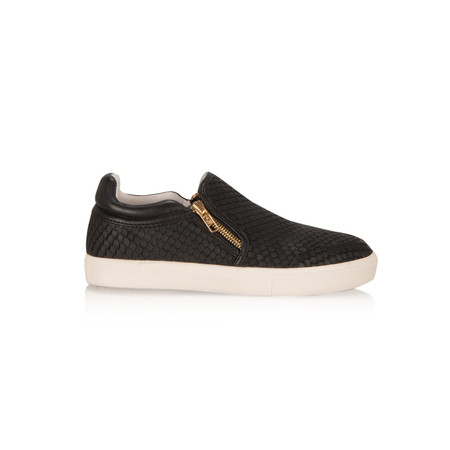 Ash Intense Nappa Wax Slip On Trainer - Black