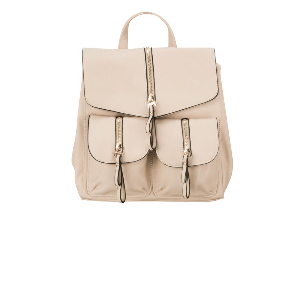 Bessie London Carrie Backpack Beige